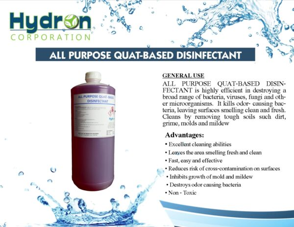online cleaning supplies in the philippines ALL PURPOSE QUAT-BASED DISINFECTANT